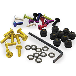 Pro-Bolt Aluminum Ducati Windscreen Screw Kit - 4mm - Pro-Bolt D-Ring Quick Release Fasteners