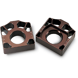 Pro Circuit Axle Blocks - Brown - 2011 Yamaha YZ125 Pro Circuit R 304 Shorty Silencer - 2-Stroke