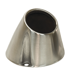 "Pro Circuit Stainless Steel New End Cap - 4.0"" - Pro Circuit Billet Quiet End Cap"