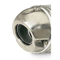 Pro Circuit Stainless Steel Modular End Cap - 4.0""