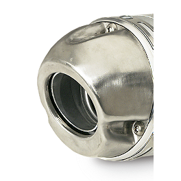 "Pro Circuit Stainless Steel Modular End Cap - 4.0"" - Pro Circuit T-4 Slip-On Exhaust - 98dB"