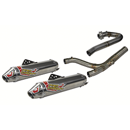 Pro Ciruit TI-4 GP Complete Dual Exhaust - 94dB - Yoshimura RS-3 Comp Series Slip-On Dual Exhaust - Stainless/Aluminum