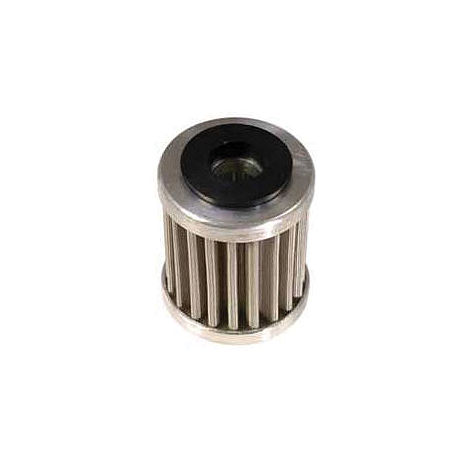 PC Racing Flo Stainless Steel Oil Filter - Short - Main