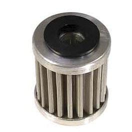PC Racing Flo Stainless Steel Oil Filter - 1999 Yamaha WR400F TM Designworks Magnetic Drain Plug