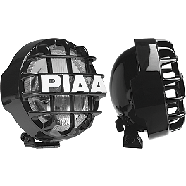 PIAA Star White 510 LRD Lights - Moose Shock Covers - Pair