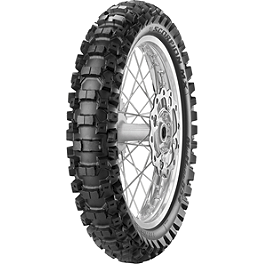 Pirelli Scorpion MX Mid Hard 554 Rear Tire - 110/90-19 - 1997 Suzuki RM250 Pirelli MT16 Front Tire - 80/100-21