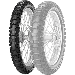 Pirelli Scorpion MX Mid Hard 554 Front Tire - 80/100-21 - 2000 Kawasaki KDX220 Pirelli MT43 Pro Trial Rear Tire - 4.00-18