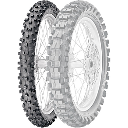 Pirelli Scorpion MX Extra J Front Tire - 70/100-17 - 2013 Kawasaki KLX140 Pirelli Scorpion MX Mid Soft 32 Rear Tire - 90/100-14