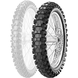 Pirelli Scorpion MX Extra X Rear Tire - 110/100-18 - 1975 Yamaha YZ250 Pirelli MT43 Pro Trial Front Tire - 2.75-21