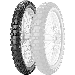 Pirelli Scorpion MX Extra X Front Tire - 80/100-21 - 1982 Yamaha YZ125 Pirelli MT43 Pro Trial Rear Tire - 4.00-18