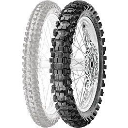 Pirelli Scorpion MX Hard 486 Rear Tire - 100/90-19 - 2004 Husqvarna CR125 Pirelli MT43 Pro Trial Front Tire - 2.75-21