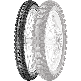 Pirelli Scorpion MX Hard 486 Front Tire - 90/100-21 - 1987 Honda CR250 Pirelli MT43 Pro Trial Rear Tire - 4.00-18