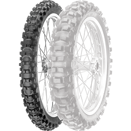 Pirelli XC Mid Hard Scorpion Front Tire 80/100-21 - 2004 KTM 525EXC Pirelli XC Mid Hard Scorpion Rear Tire 120/100-18