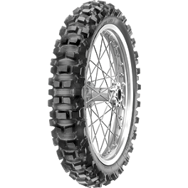 Pirelli XC Mid Hard Scorpion Rear Tire 140/80-18 - 1990 Suzuki DR350S Pirelli Scorpion MX Hard 486 Front Tire - 90/100-21