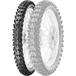 Pirelli Scorpion MX Mid Soft 32 Front Tire - 90/100-21 - 1976 Suzuki RM125 Pirelli MT43 Pro Trial Rear Tire - 4.00-18
