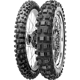 Pirelli MT16 Rear Tire - 110/100-18 - 2010 Husqvarna TE450 Pirelli Scorpion MX Hard 486 Front Tire - 90/100-21