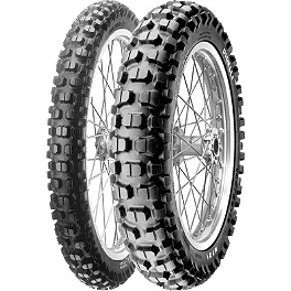 Pirelli MT21 Rear Tire - 130/90-18 - 2004 Kawasaki KLX400SR Pirelli Scorpion MX Mid Hard 554 Front Tire - 90/100-21