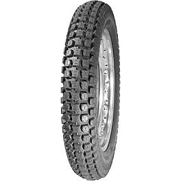Pirelli MT43 Pro Trial Rear Tire - 4.00-18 - 2008 Honda CRF450X Dunlop D803 Front Trials Tire - 2.75-21