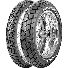 Pirelli MT90AT Scorpion Rear Tire - 120/80-18 - 1989 Yamaha XT350 Pirelli Scorpion MX Mid Hard 554 Front Tire - 90/100-21