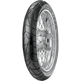 Pirelli Scorpion Trail Front Tire - 90/90-21V - Continental Race Attack Custom Radial Front Tire - 90/90-21