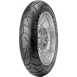Pirelli Scorpion Trail Rear Tire - 150/70R-17 - 2010 Honda CBR1000RR Jardine RT-5 Slip-On Titanium Exhaust