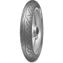 Pirelli Sport Demon Front Tire - 100/90-16 - 1973 Yamaha TX650 Vesrah Racing Semi-Metallic Brake Shoes - Rear