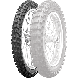 Pirelli XC Mid Soft Scorpion Front Tire 80/100-21 - 1999 Suzuki RM250 Pirelli Scorpion MX Hard 486 Rear Tire - 120/90-19