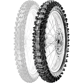 Pirelli Scorpion MX Soft 410 Rear Tire - 100/90-19 - 2010 Husqvarna CR125 Pirelli MT43 Pro Trial Front Tire - 2.75-21