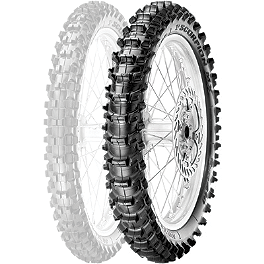 Pirelli Scorpion MX Soft 410 Rear Tire - 110/90-19 - 2000 KTM 380SX Pirelli MT43 Pro Trial Front Tire - 2.75-21