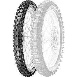 Pirelli Scorpion MX Soft 410 Front Tire - 80/100-21 - 1988 Yamaha XT350 Pirelli MT43 Pro Trial Rear Tire - 4.00-18