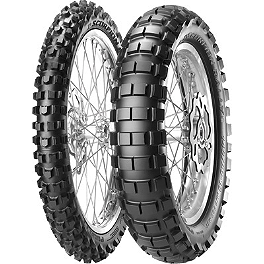 Pirelli Scorpion Rally Rear Tire - 140/80-18 - 2005 Kawasaki KDX200 Pirelli MT43 Pro Trial Front Tire - 2.75-21