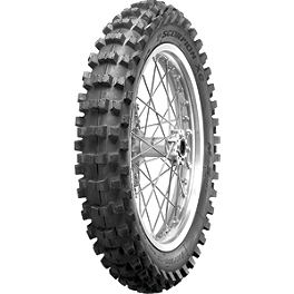 Pirelli XC Mid Soft Scorpion Rear Tire 120/100-18 - 1982 Suzuki RM250 Pirelli Scorpion MX Hard 486 Front Tire - 90/100-21