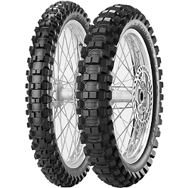 Pirelli 125/250F Scorpion Tire Combo - 2002 Honda CR125 Pirelli Scorpion MX Mid Hard 554 Front Tire - 90/100-21