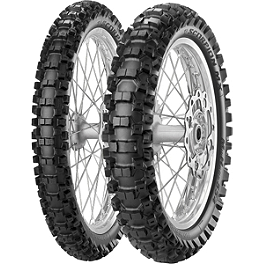 Pirelli 250/450F Scorpion Tire Combo - 2000 Kawasaki KX250 Pirelli Scorpion MX Mid Hard 554 Rear Tire - 120/80-19