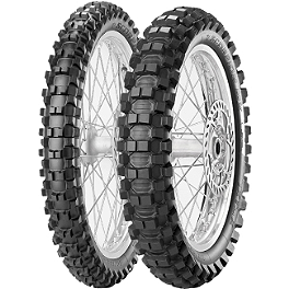 Pirelli 250/450F Scorpion Tire Combo - 2001 Honda CR500 Pirelli Scorpion MX Mid Hard 554 Front Tire - 90/100-21