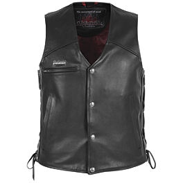 Pokerun Cutlass 2.0 Leather Vest - River Road Women's Vapor Perforated Leather Vest