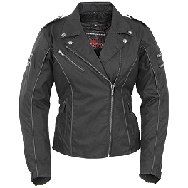 Pokerun Women's Mirage 2.0 Jacket - River Road Women's Pecos Leather And Mesh Jacket