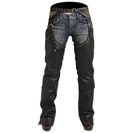Pokerun Women's Marilyn 2.0 Chaps - River Road Women's Plain Leather Chaps