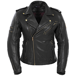 Pokerun Women's Marilyn Leather Jacket - River Road Women's Sapphire Jacket