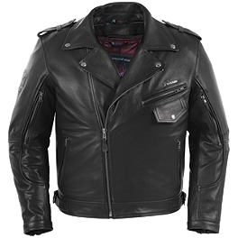 Pokerun Outlaw 2.0 Leather Jacket - River Road Ironclad Perforated Leather Jacket