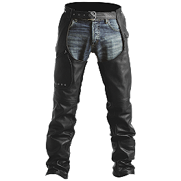Pokerun Outlaw 2.0 Leather Chaps - River Road Drifter Distressed Chaps