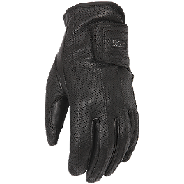Pokerun Women's XG Leather Gloves - Vemar Jiano Evo TC Modular Helmet