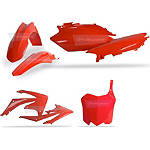 Polisport Plastic Kit - Kawasaki KX100 Dirt Bike Body Parts and Accessories