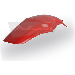 Polisport Rear Fender - 2004 Honda CR85 Big Wheel Polisport Radiator Shrouds