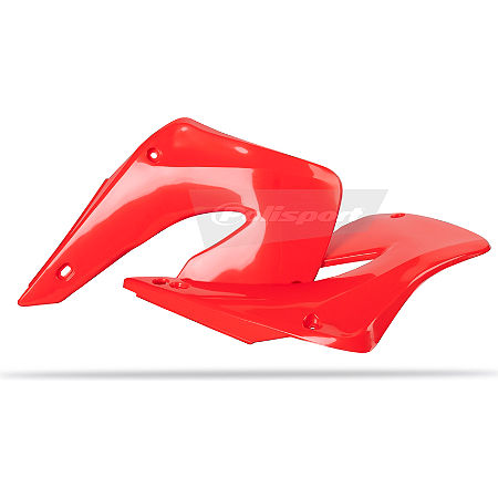 Polisport Radiator Shrouds - Red