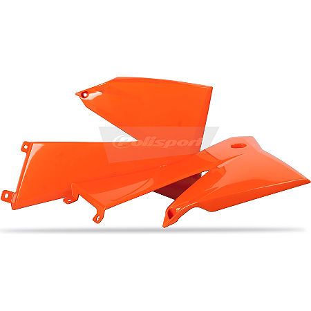Polisport Radiator Shrouds - Orange