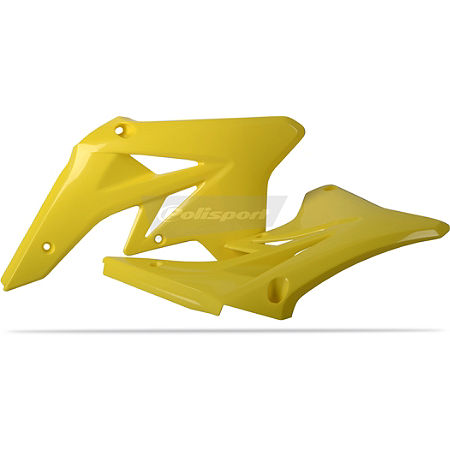 Polisport Radiator Shrouds - Yellow