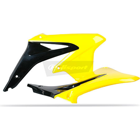 Polisport Radiator Shrouds - Black-Yellow