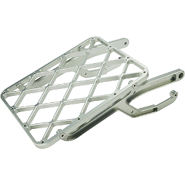 Pro Moto Billet Rack-It Cargo Rack - Silver - Pro Moto Billet Sharkfin Rear Disc Guard