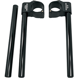 Powerstands Racing Clip-Ons - Vortex 0 Degree Clip-Ons 50mm - Black